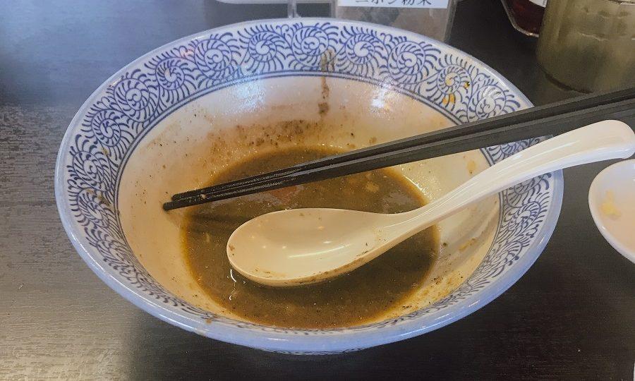 濃厚魚介ラーメン完食