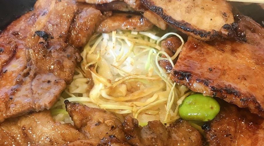 豚丼のキャベツ
