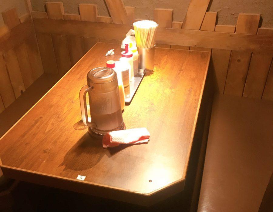 ラーメンジャンクスの個室席