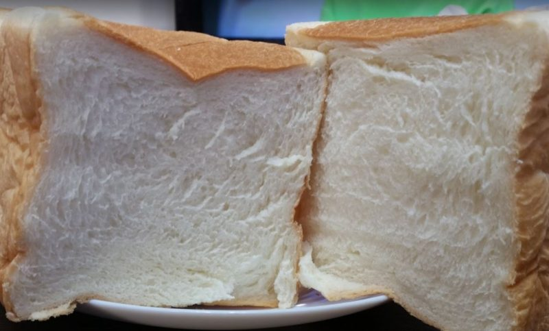 食パンちぎった断面