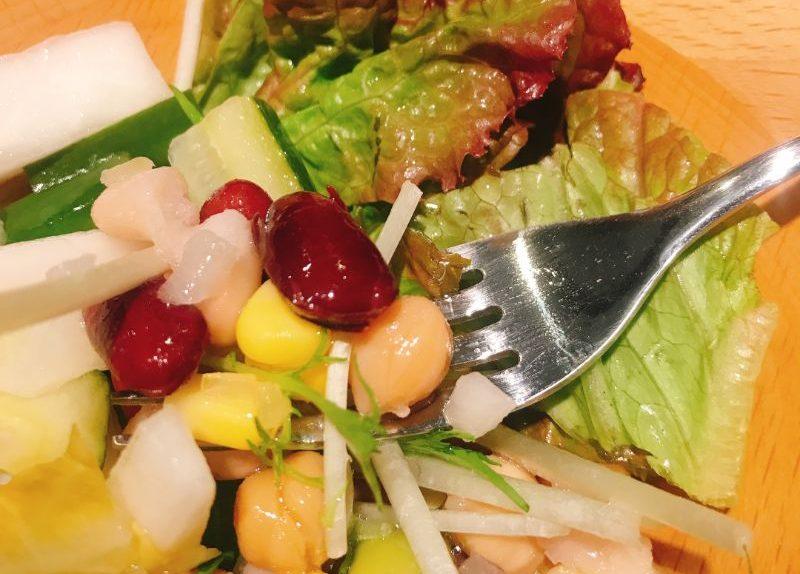 サラダのアップ