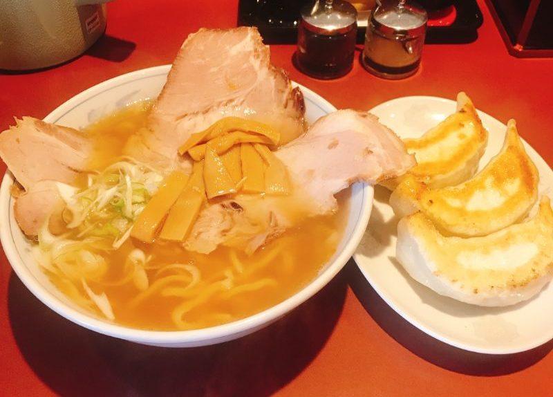 チャーシューメンと餃子