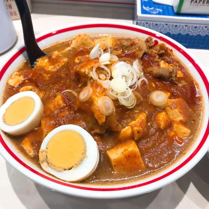 五目蒙古タンメンの野菜とマーボ大盛り