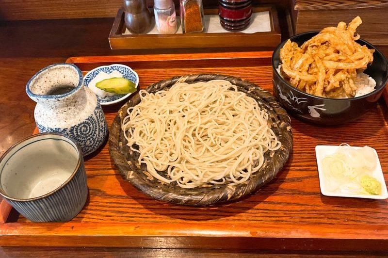 笊蕎麦とミニかき揚げ丼